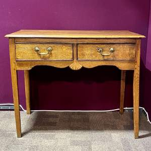 Mid 18th Century Oak Side Table with Two Drawers