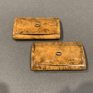 Pair of 19th Century Snuff Boxes