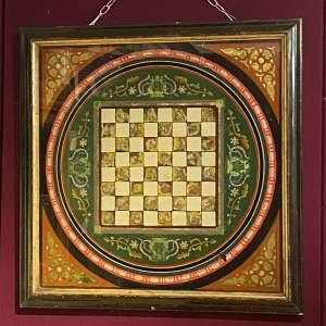 Mid 19th Century Irish Folk Art Chess Board