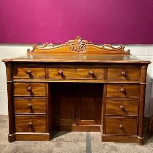 Victorian Mahogany Kneehole Writing Desk