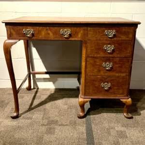 Antique Burr Walnut Writing Desk