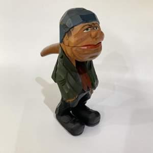 Anri Nut Cracker - Carved Wooden Figurine - Italian Folk Art