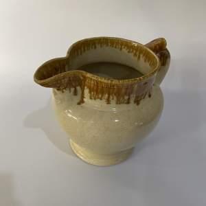 Stoneware Jug with Honey Glaze