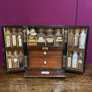 19th Century Extensive Mahogany Apothecary Cabinet
