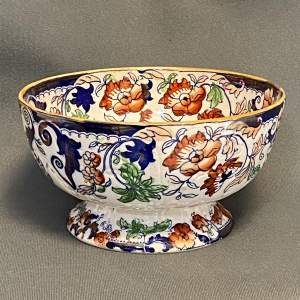 Victorian Amherst Japan Ironstone Footed Bowl