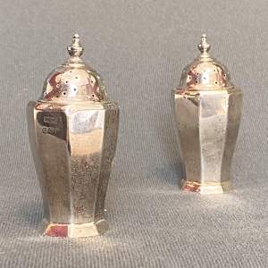 Pair of 20th Century Silver Pepperettes