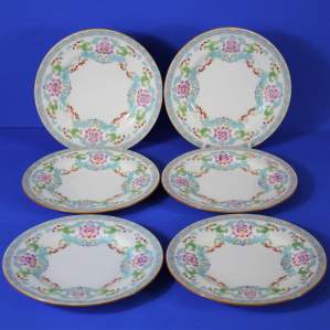 Antique Minton - Spring Bouquet - Set of 6 Bread and Butter Plates