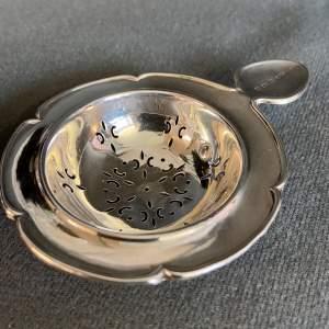 Edwardian Silver Tea Strainer