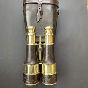 A Fine Large Pair Officers Field Binoculars and Case