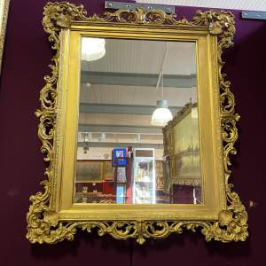 Bevelled Plate Mirror with Gilt Gesso Frame