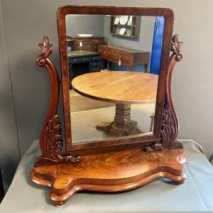 Large Victorian Dressing Table Mirror