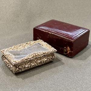 Early Victorian Nathaniel Mills Silver Snuff Box