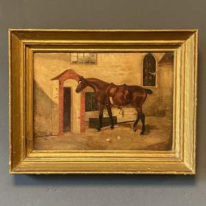 Mid 19th Century Oil on Canvas of a Thoroughbred