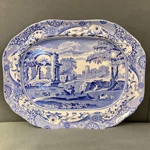 Copeland Spode Blue Italian Blue and White Meat Platter