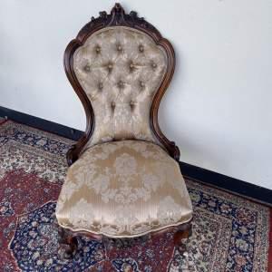 Victorian Walnut Framed Nursing Chair