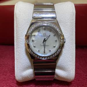Omega Constellation Ladies Diamond Set Watch with Box and Papers