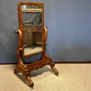 Victorian Mahogany Cheval Dressing Mirror