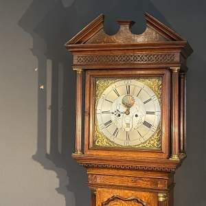 18th Century Oak Longcase Clock by Barlow of Ashton