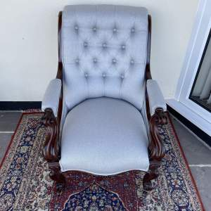 Victorian Upholstered Open Armchair