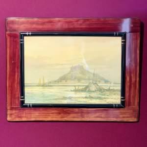Signed Watercolour of a Coastal Scene