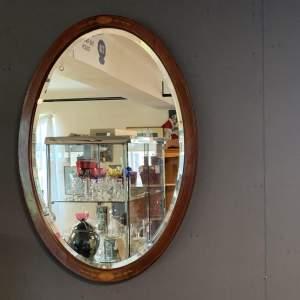 Edwardian Oval Wall Mirror
