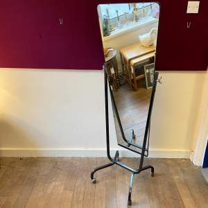 Vintage Metal Framed Shop Cheval Mirror