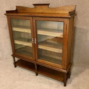 Arts And Crafts Glazed Oak Bookcase