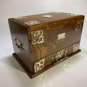 Oak Stationary Box - Late 19th Century