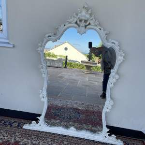 Edwardian Over Mantle Mirror