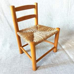 Childs or Dolls Light Wood Chair