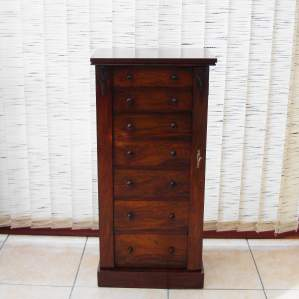 Victorian Rosewood Wellington Chest