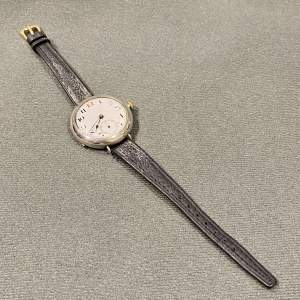 Early 20th Century Sterling Silver Cased Wristwatch