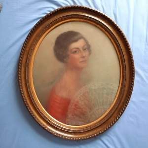 19th Century French Portrait of a Lady - Pastel