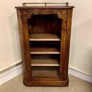 Victorian Inlaid Burr Walnut Cabinet