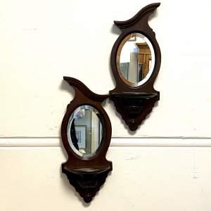 Pair of Victorian Mahogany Framed Wall Mirrors