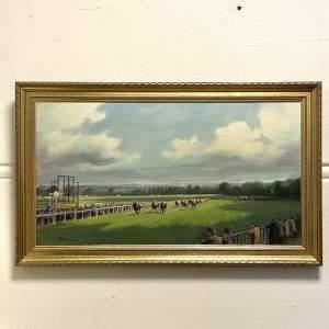 Lionel John Morris Oil Painting of Sandown Park