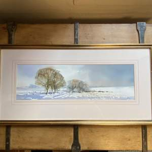 Andy Le Poidevin Watercolour of Landscape under Snow