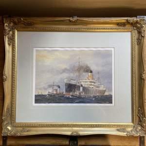 Keith Glen Watercolour of a Steamship