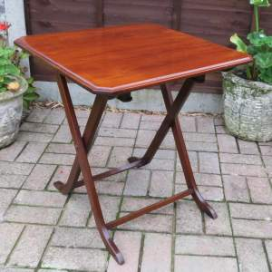 Early 20th Century Mahogany Campaign Style Folding Table