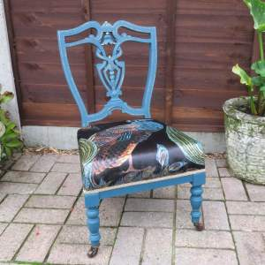 Upcycled Edwardian Nursing Chair - Painted Frame
