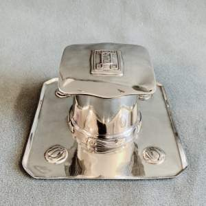Liberty and Co Tudric Pewter Inkwell by Archibald Knox