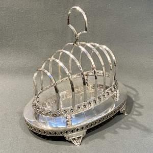 Unusual 19th Century Silver Plate Toast Rack