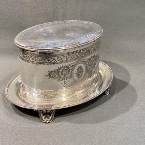 19th Century Elkington and Co Silver Plate Biscuit Box