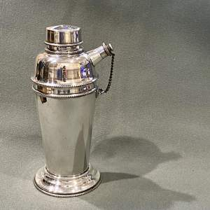 English 1930s Silver Plate Cocktail Shaker