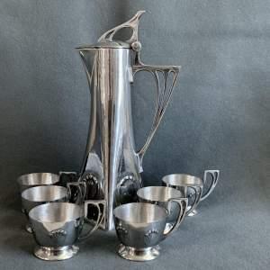 WMF Art Nouveau Pewter Liqueur Set