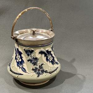 Early 20th Century Macintyre Florianware Style Biscuit Barrel