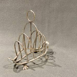 Early 20th Century Silver Toast Rack