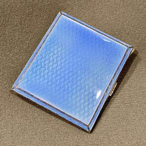 Early 20th Century Silver and Enamel Cigarette Case