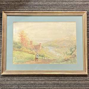 Horrace Murray Hammond Watercolour Painting Landscape Scene
