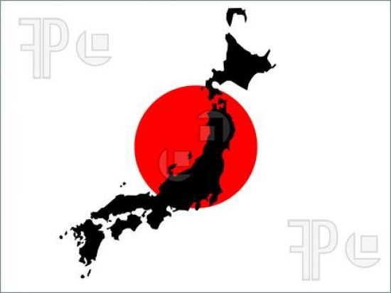 82 1 Map Japan Japanese Flag 190634